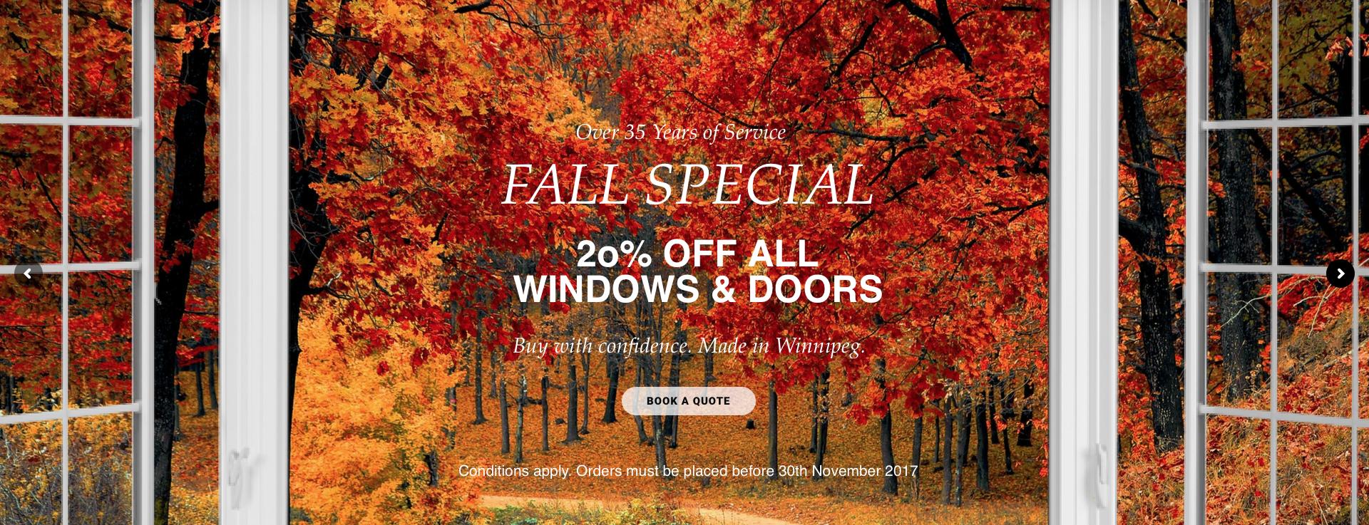 Fall Window & Door Special